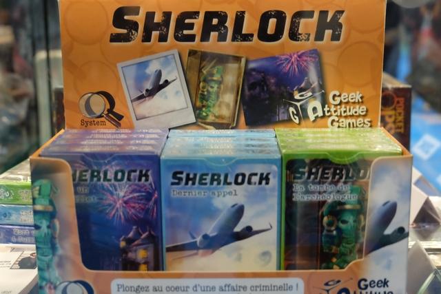 La série des Q-System, alias Sherlock, traduite par GAG est une réussite absolue ! Les jeux tiennent dans la poche, coûtent moins de 10 € et le mécanisme est simple sans être simpliste. Ils ont fait sold out sur leur stand dès le samedi... Ça en dit long !