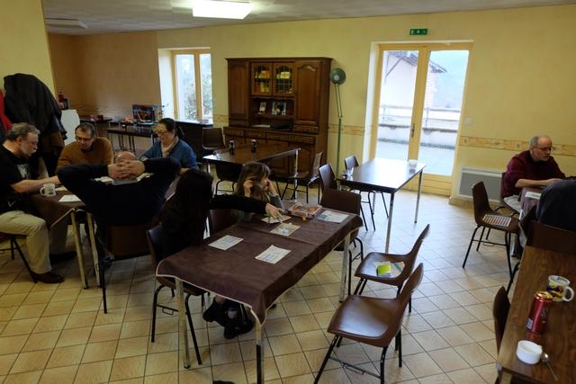 Ca fait une sacrée belle journée jeux, avec pas moins de 4 tables en simultanée à cet instant : Chakra, Boom Trix, Mu et, donc, Corinth...
