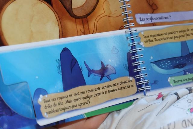 Oh les magnifiques requins marteaux ! Par contre, malgré tous ses efforts, Leila ne réussira pas l'aventure à sa première tentative : elle perd la partie pour avoir subi deux blessures. Tant mieux ! :-)
