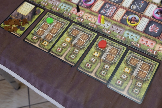Et mes éléments, avec pas trop de stock, ni sur ma carte (les champignons viennent d'y entrer par le système de progression sur les tables), ni dans mes serres. Belle partie, bien séduisante...